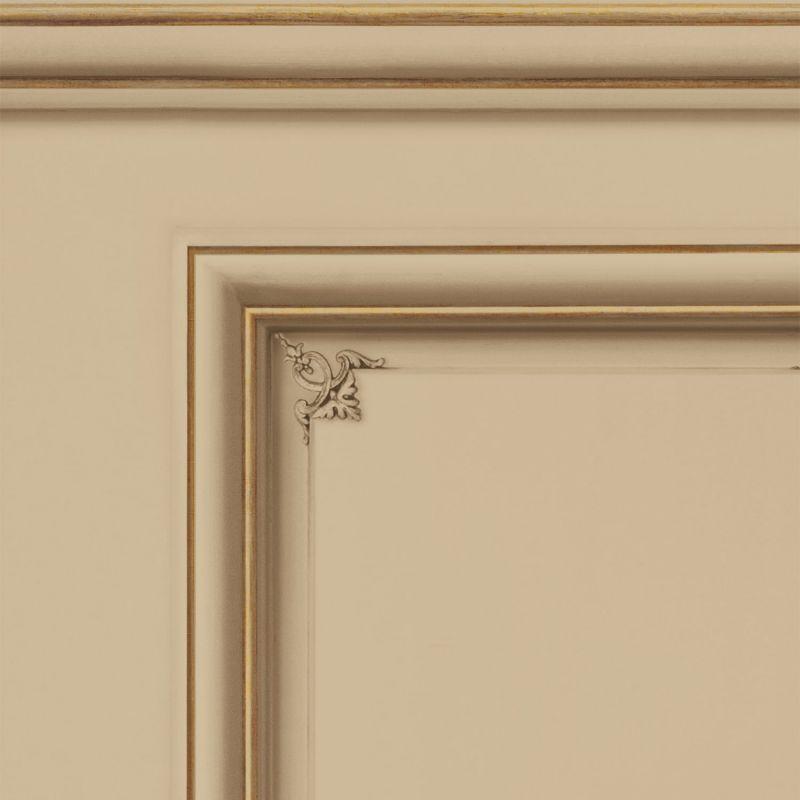 Papier peint soubassement Haussmannien Café crème - Echantillon