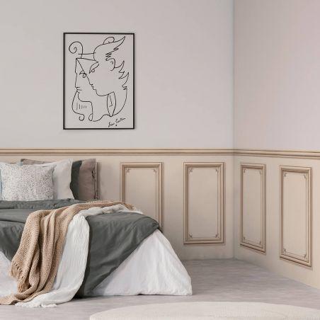 Haussmann wainscot wallpaper - Linen