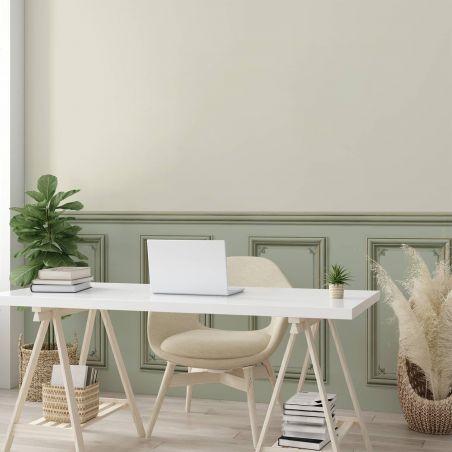 Papier peint soubassement Haussmannien - Vert de gris