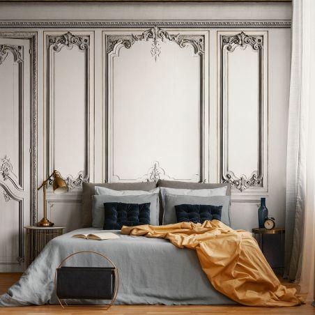 Papier peint panoramique boiseries Haussmann - Mystique