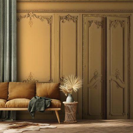 Papier peint panoramique boiseries Haussmann - Muscade