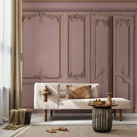 Set of Haussmann wood panels - Old rose