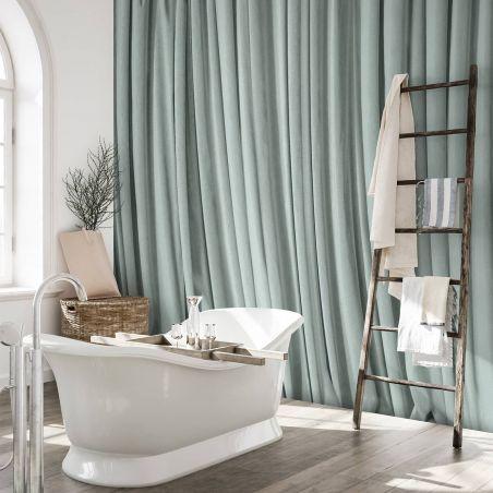 Papier peint panoramique rideau vert celadon