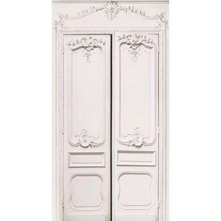 Double door with simple Haussmann panelling series II 133cm