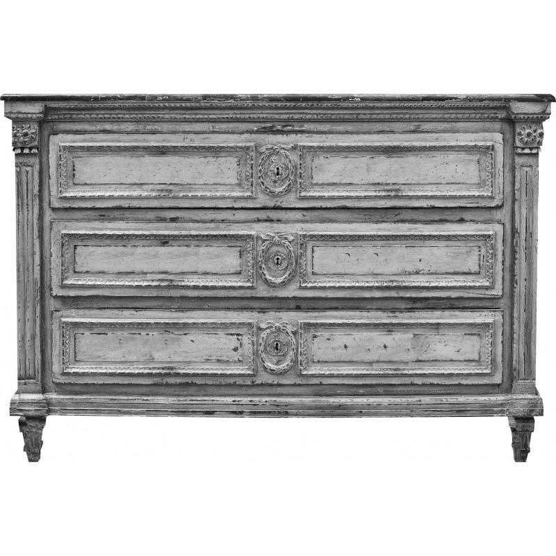 commode trompe l 39 il arace noir et blanc. Black Bedroom Furniture Sets. Home Design Ideas