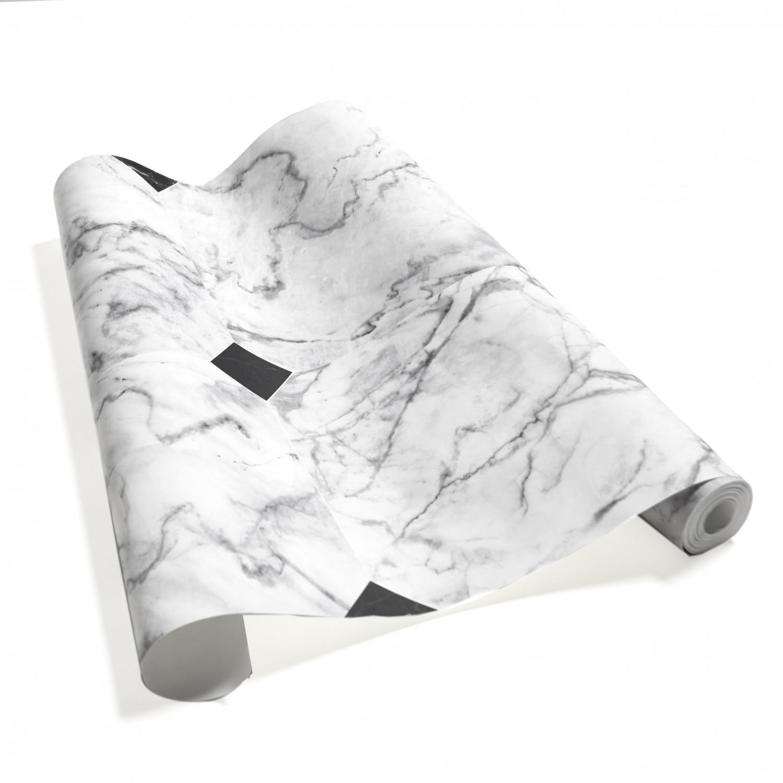 cabochon white gray marble wallpaper
