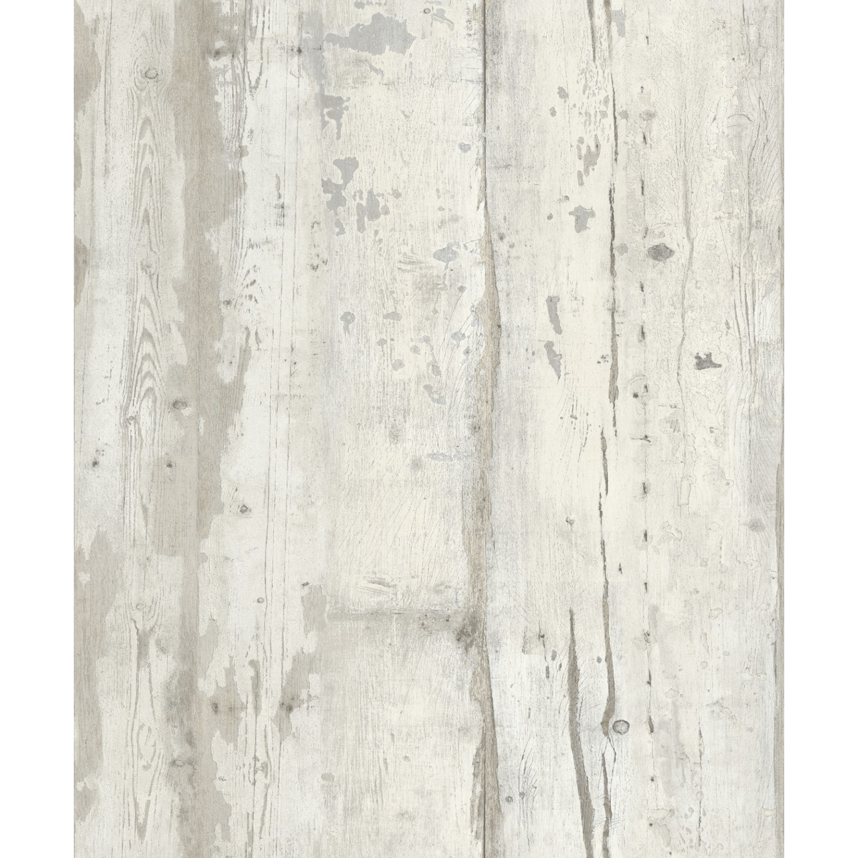Patine Blanche Sur Bois papier peint bois patiné blanc - echantillon