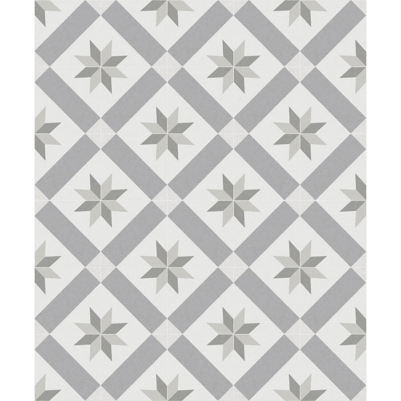 Tapisserie Carreaux De Ciment papier peint carreaux de ciment gris - echantillon