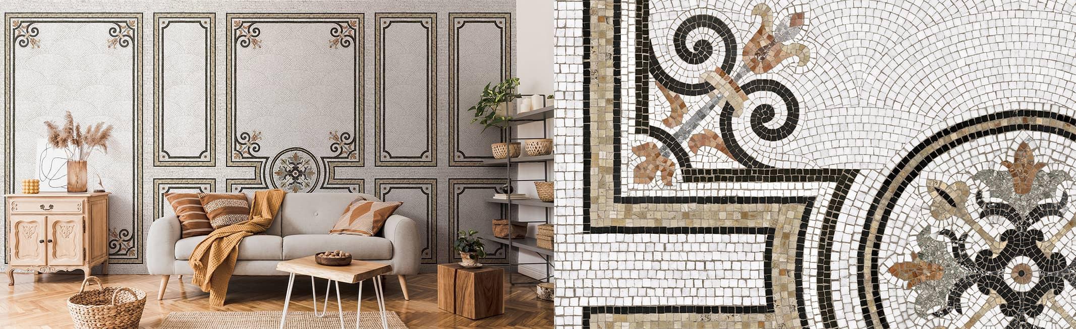 mosaic wide mural