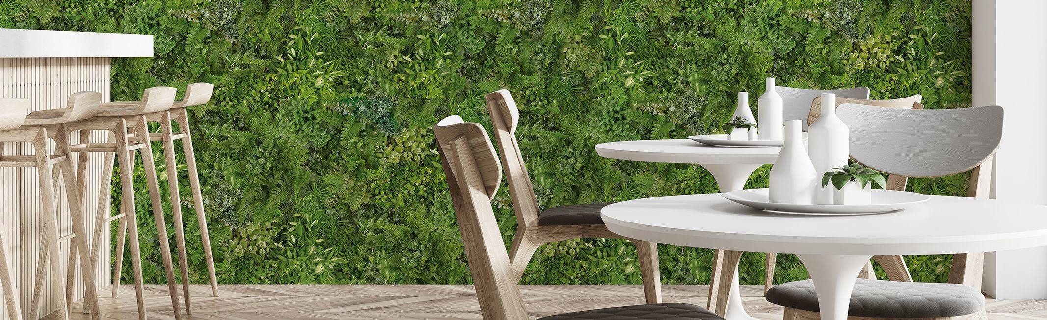 Panoramique Rideau végétal